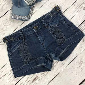 BCBGMaxAzria Low-Rise Medium Wash Blue Jean Shorts